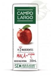 Suco Integral de Maçã / Suco Integral de Uva Campo Largo 200ml