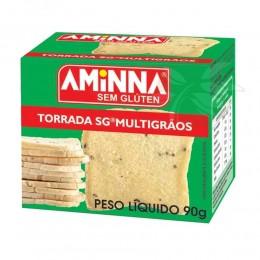 Torrada Multigrãos Sem Glúten 90g - Aminna
