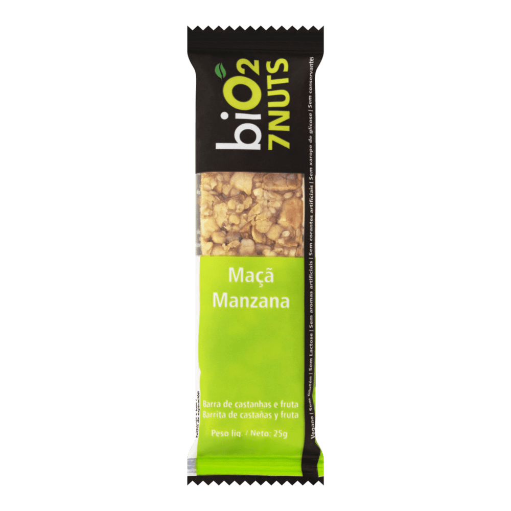 Barra 7Nuts (COCO - CRANBERRY - DAMASCO - MAÇÃ) 25g - biO2