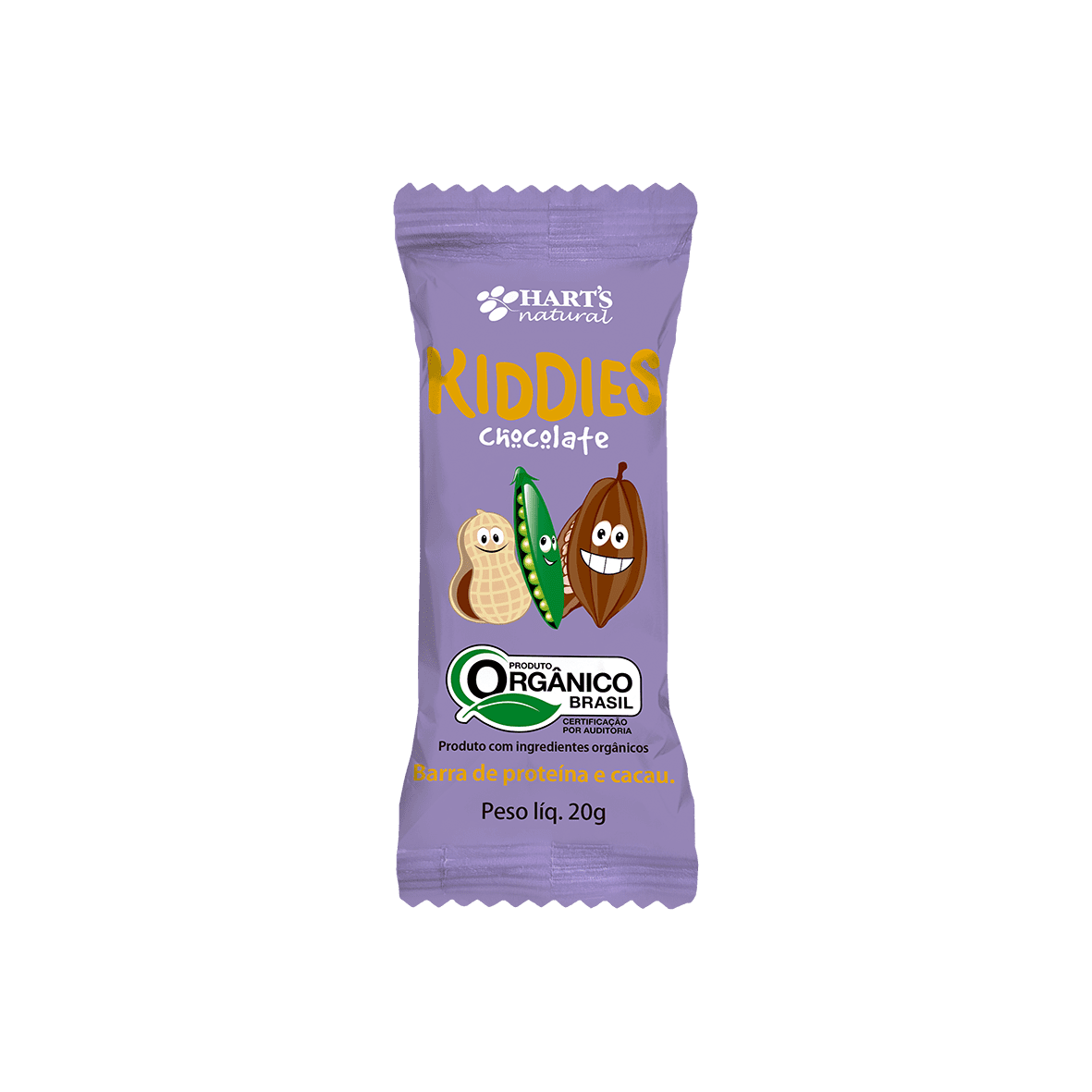 Barra de Proteína Kiddies Orgânica Chocolate 20g - Harts Natural