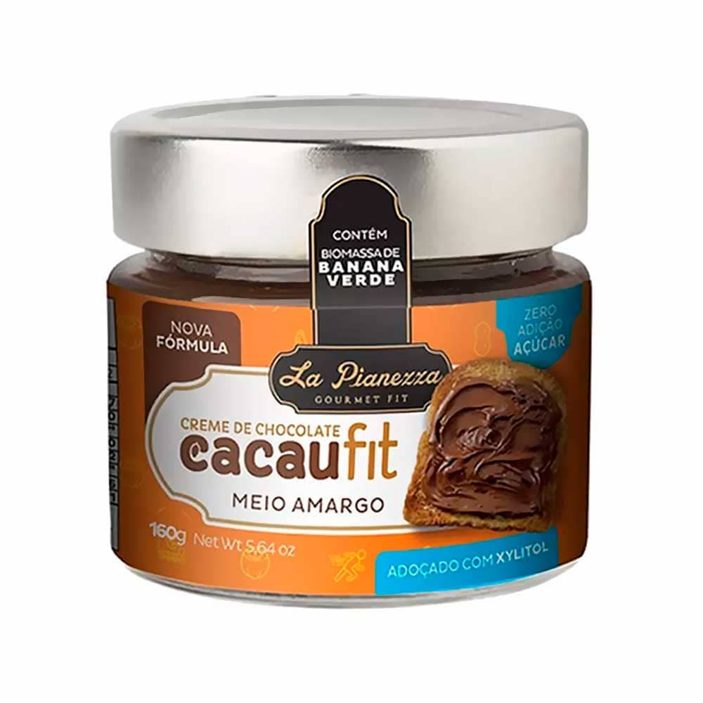 Creme de Chocolate Meio Amargo - Cacau Fit 160g - La Pianezza