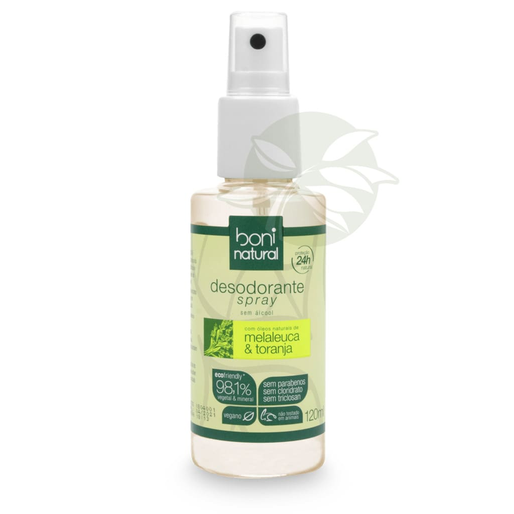 Desodorante Spray Melaleuca e Toranja 120ml -  Boni Natural