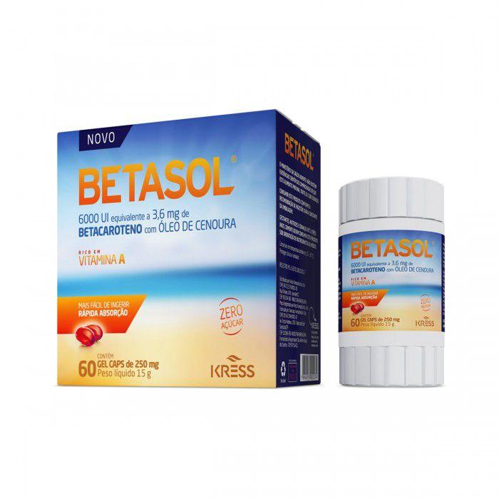 Betasol - c/60 Cápsulas - 250mg - Zero Açúcar