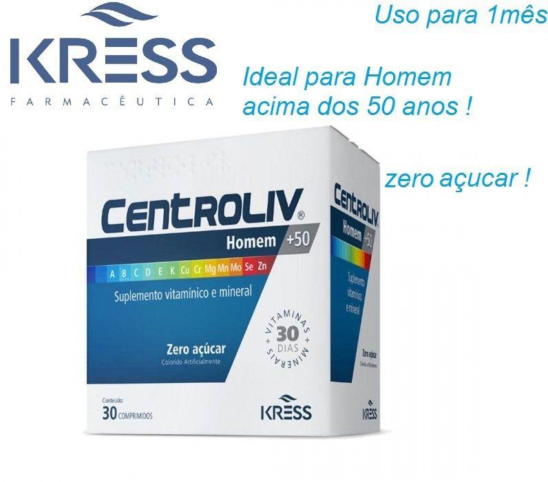 CentroLiv Homem +50 - c/30 - Zero Açúcar