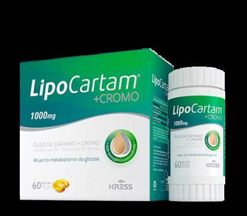 LipoCartam + CROMO - c/60 Cápsulas Gel