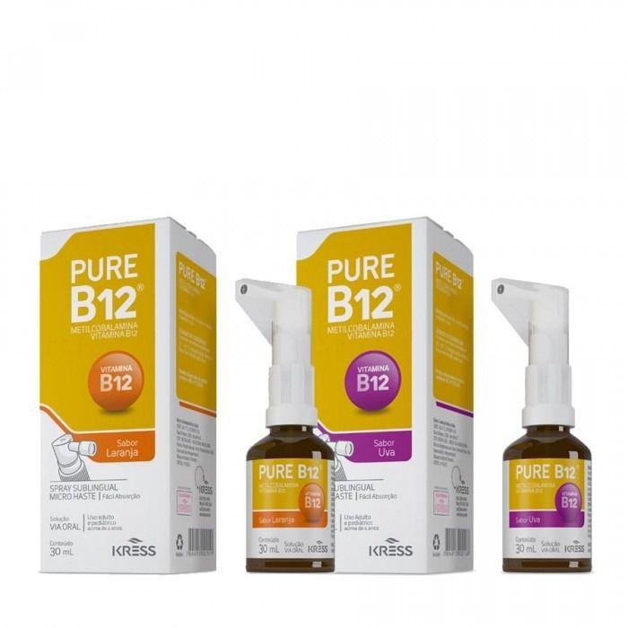 Pure B12 - Sabor Uva - Spray Sublingual - Zero Açúcar