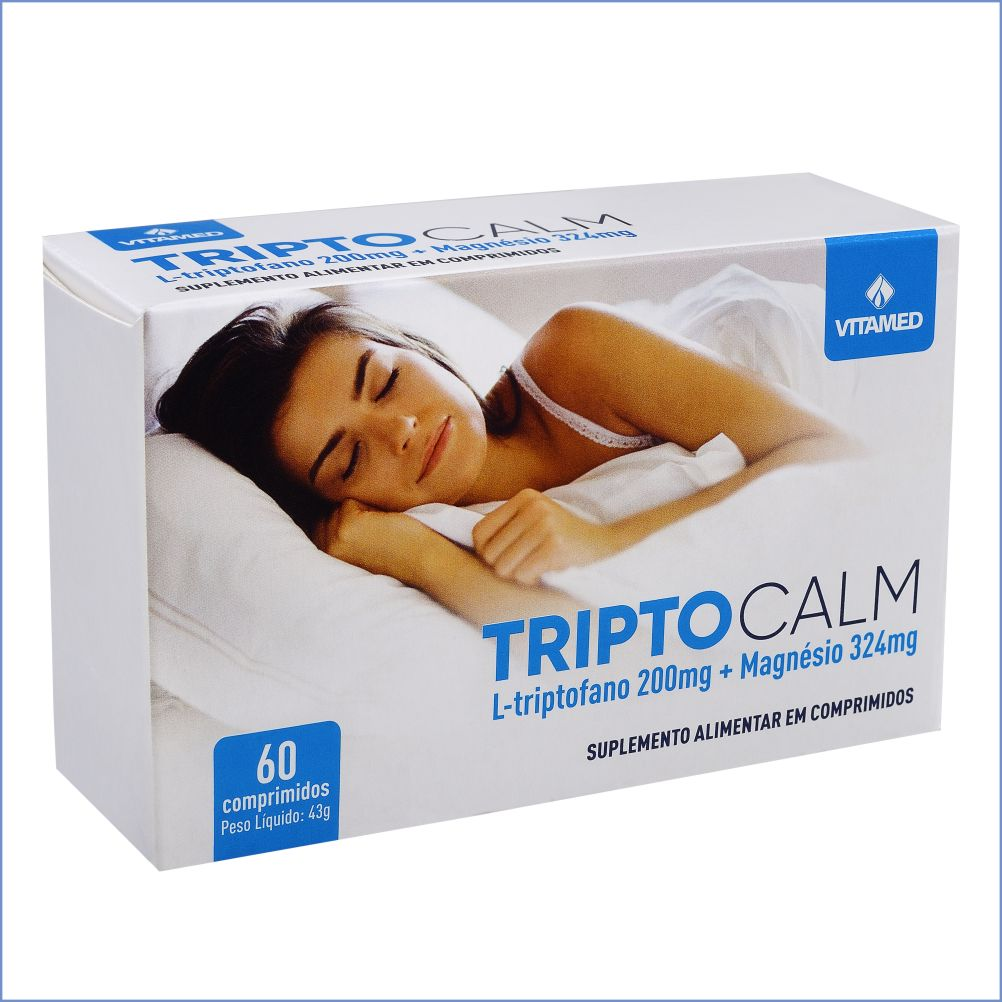 Triptocalm - Precursor da Melatonina e Serotonina c/Magnésio - c/60 Comprimidos