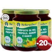Composto de Mel, Própolis, Agrião e Guaco - Pacote com 3