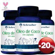 Óleo de Coco - Pacote com 3