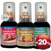 Spray Composto Própolis - Pacote com 3 ativos