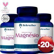 Suplemento à base de Magnésio - Pacote com 3