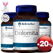 Suplemento de Cálcio e Magnésio à base de Dolomita - Pacote com 3