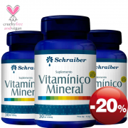 Suplemento Vitamínico Mineral - Pacote com 3