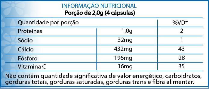 Cálcio e Fósforo 60 cápsulas 500mg