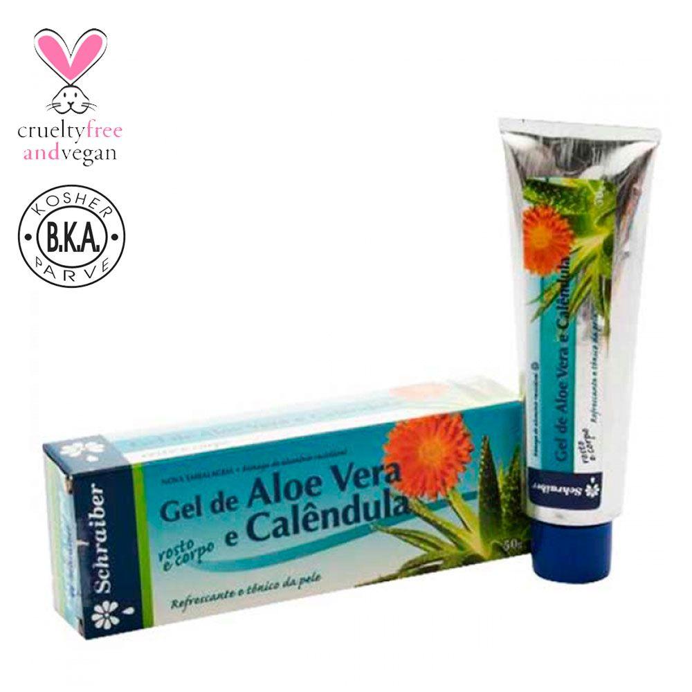 Gel Corporal e Facial de Aloe Vera e Calêndula - 50g.
