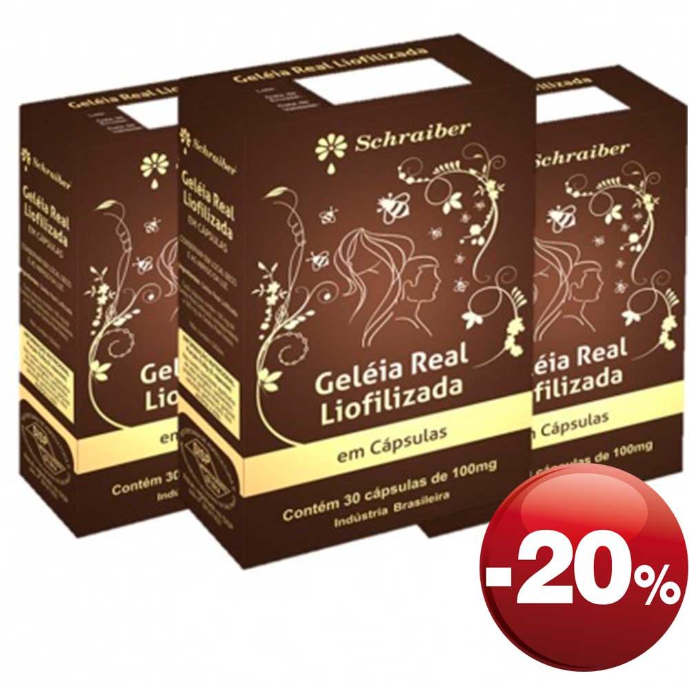 Geléia Real Liofilizada - Pacote com 3