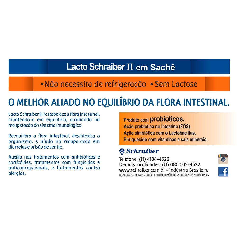 Lacto Schraiber II - 10 Sachês SEM LACTOSE