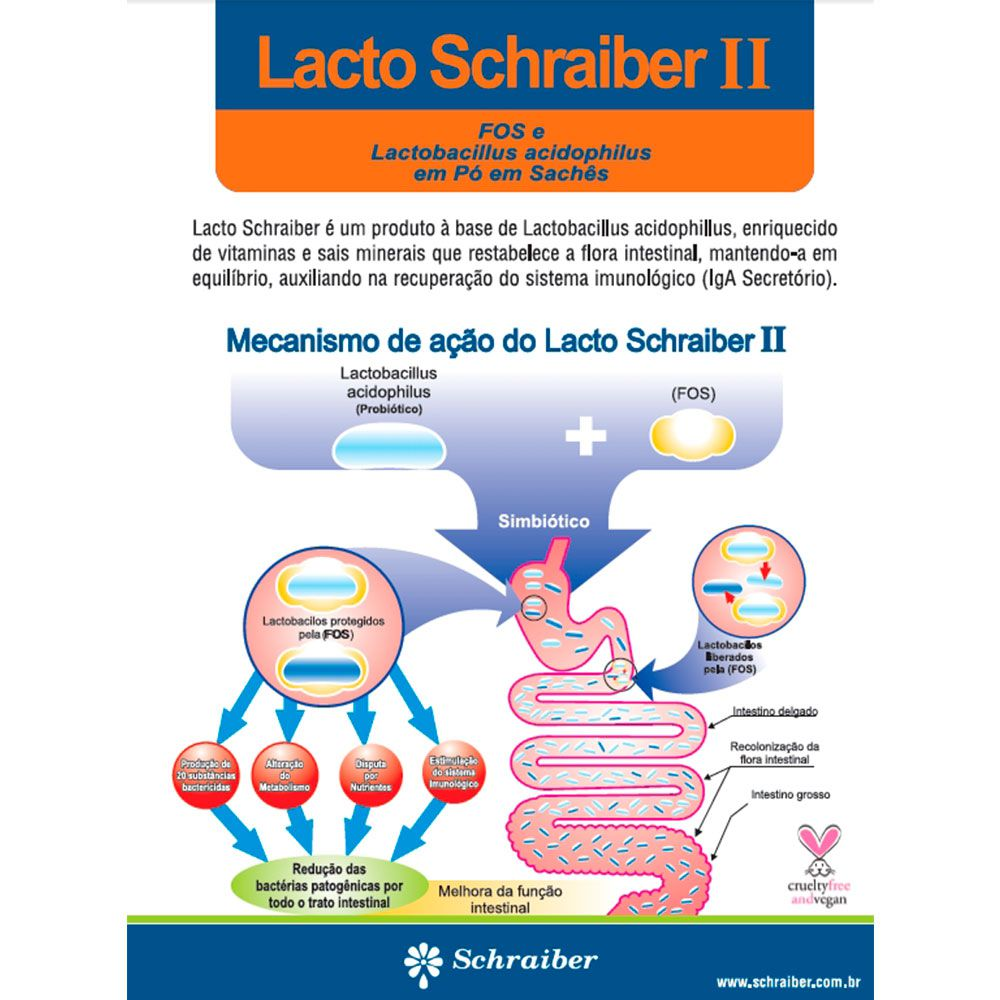 Lacto Schraiber II - 30 Sachês