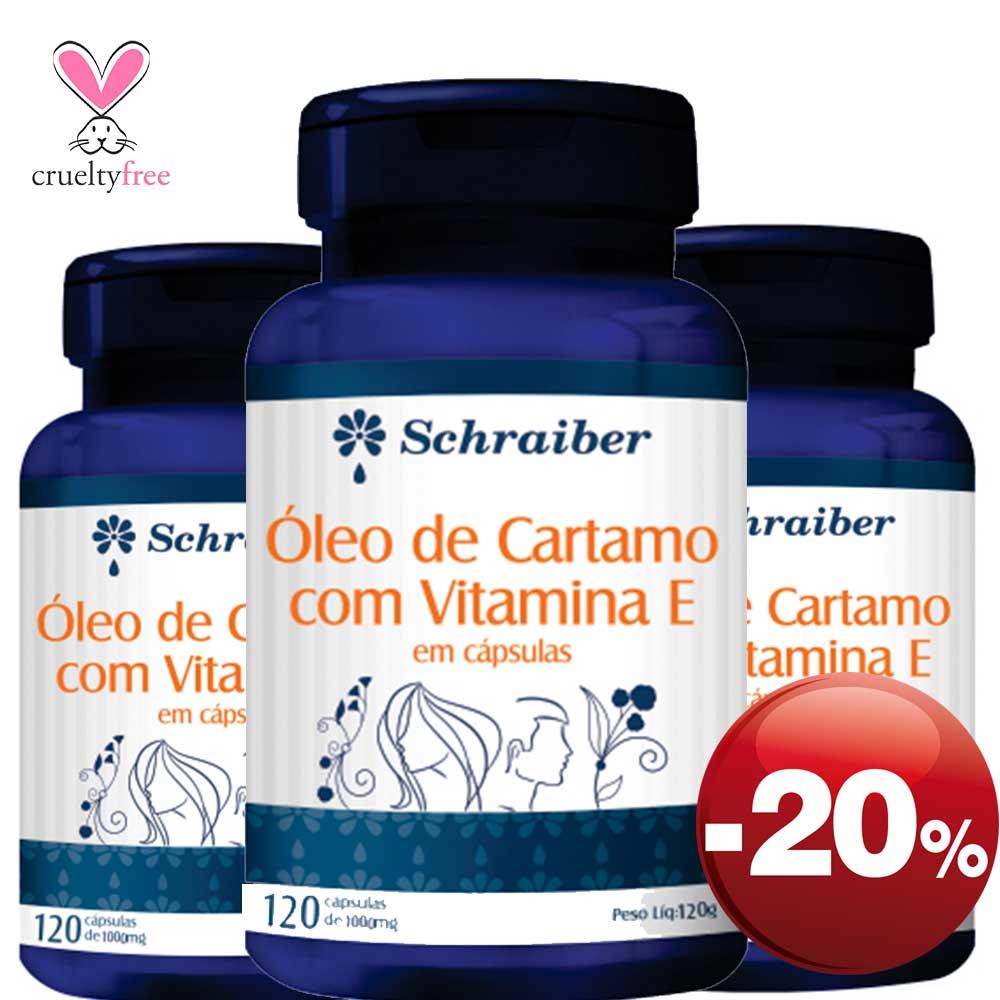 Óleo de Cártamo - 120 Cápsulas - Pacote com 3