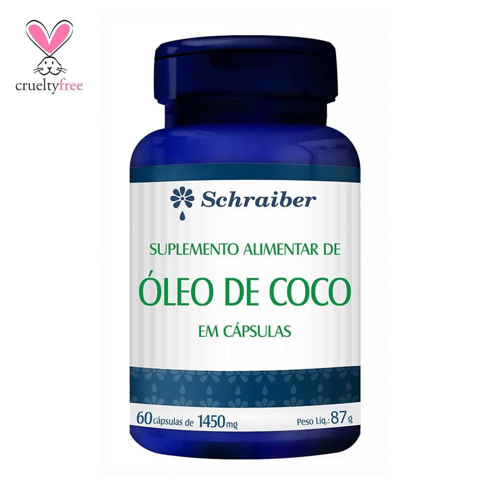 Óleo de Coco - 60 cápsulas de 1450mg