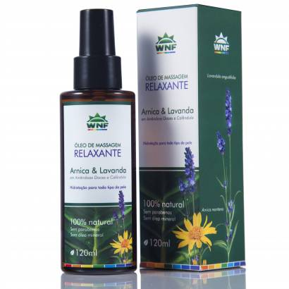 Óleo de Massagem Relaxante 120ML - WNF Arnica e Lavanda