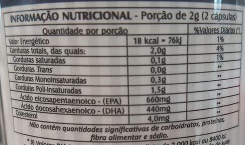 Ômega 3 Concentrado (EPA 660 e DHA 440)mg - 60 Cápsulas 1000mg