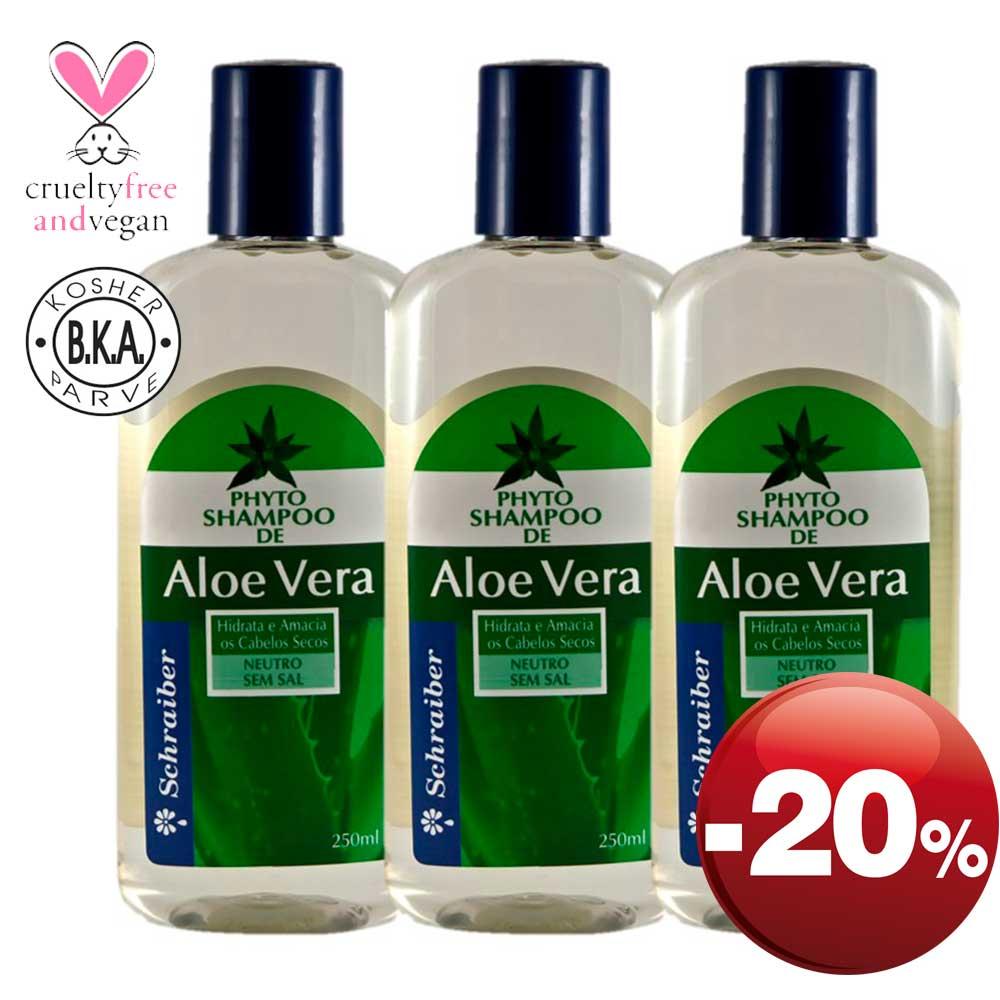 Shampoo de Aloe Vera - Pacote com 3