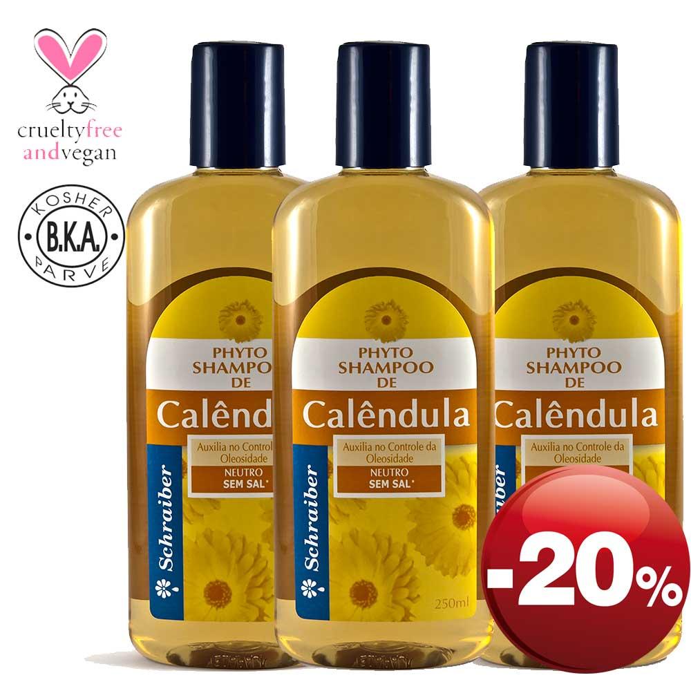Shampoo de Calêndula - Pacote com 3