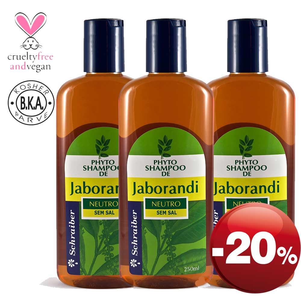 Shampoo de Jaborandi - Pacote com 3