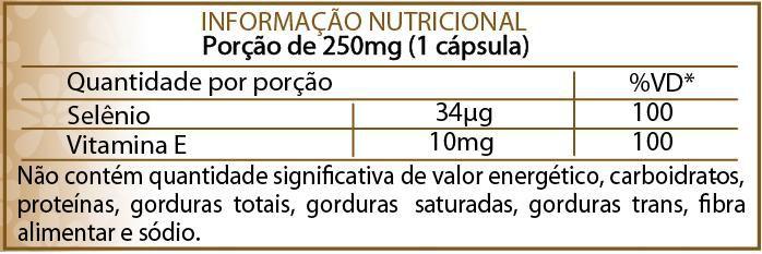 Suplemento à base de Selênio quelato e Vitamina E