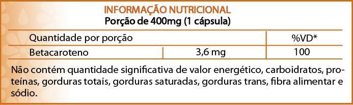 Suplemento de Vitamina A à base de Betacaroteno