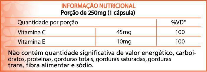 Suplemento Vitamina C e E