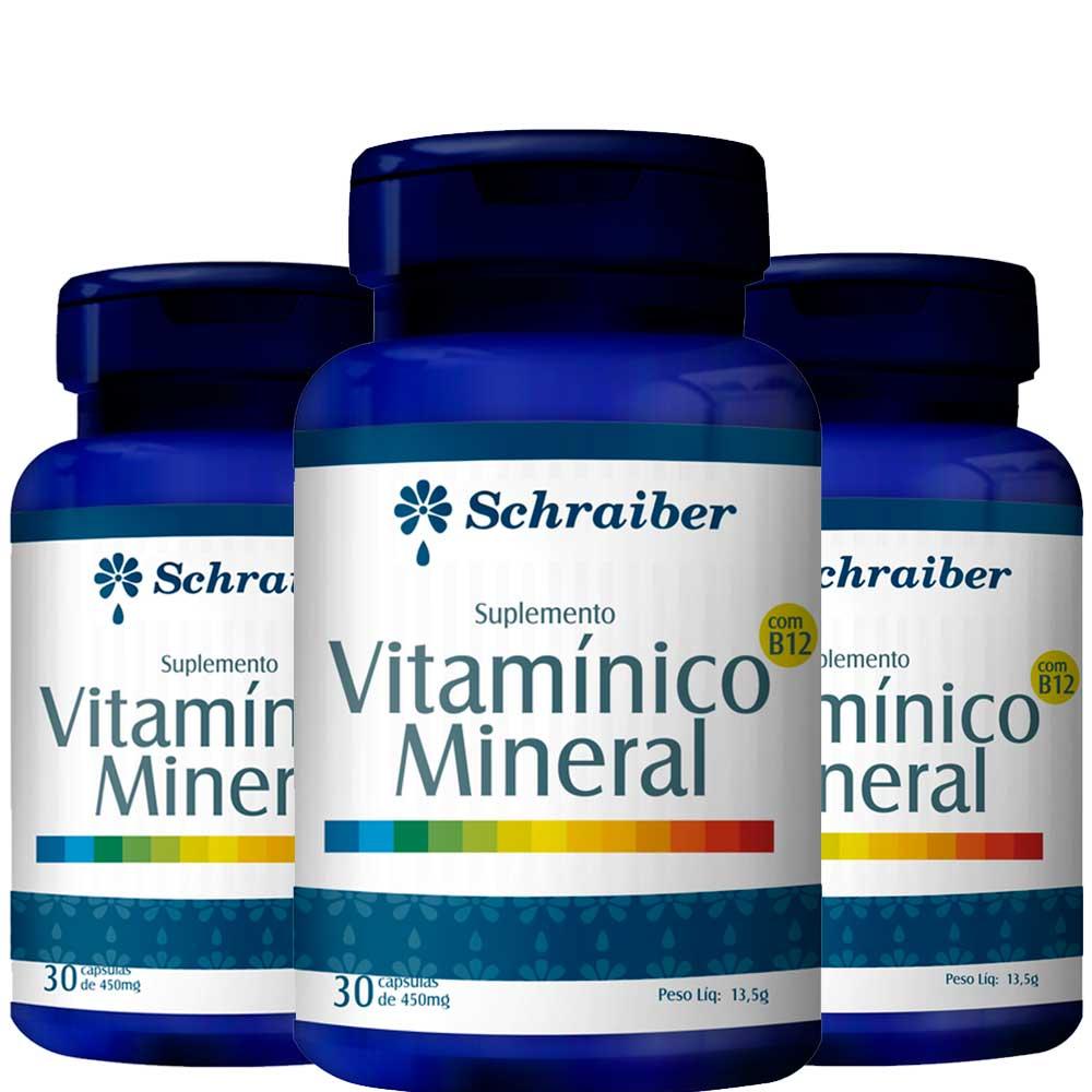 Suplemento Vitamínico Mineral - Kit com 3 unidades