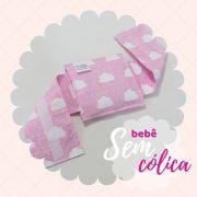 Almofada Térmica de Ervas Bebê sem Cólica - Nuvem Rosa com Cinta