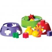 Brinquedo Didático Baby Girafa 10 Formas Geométricas - Mercotoys