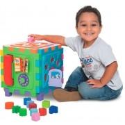 Brinquedo Educativo Cubo Didático Grande Vira Tapete - Mercotoys