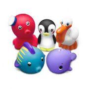 Brinquedos Para o Banho do Bebê Animais Marinhos 5 Bichinhos Set 2 - Comtac Kids