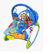 Cadeira de Descanso New Rocker Vibratória Musical - Azul