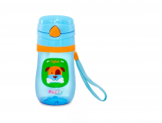 Copo Cachorro Plástico com Canudo, tampa poup-up antivaz