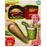 Kit Comidinhas Fast Food Hora do Lanche Premium - Ark Toys