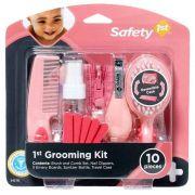 Kit Completo de Higiene e Beleza (Rosa) 10 Peças - Safety