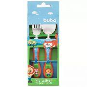 Kit Talheres Happy Friends - Buba Baby