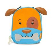 Lancheira Infantil Animais Cachorro - Linha Let's Go Comtac Kids