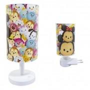 Luminária Abajur de Parede Infantil Led Noturna Mickey & Minnie - Tsum Tsum