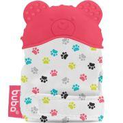 Mordedor Bebê Luva de Silicone Urso Rosa - Buba Baby