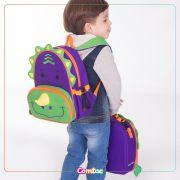 Mochila Infantil Animais Dinossauro - Linha Let's go Comtac
