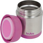 Pote Térmico Aço Inoxidável Rosa - Buba Baby