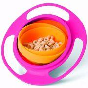 Prato Mágico Giratório Gira Bowl Infantil Rosa - Buba Baby