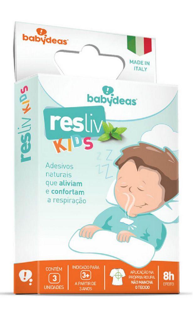 Adesivos para Alívio e Conforto Nasal Resliv Kids - Babydeas