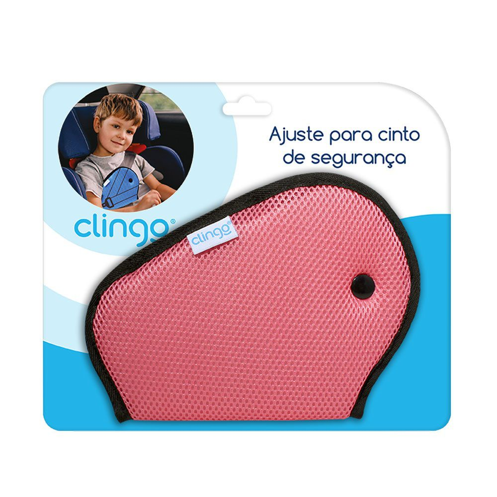 Ajuste para Cinto de Segurança Infantil Rosa - Clingo